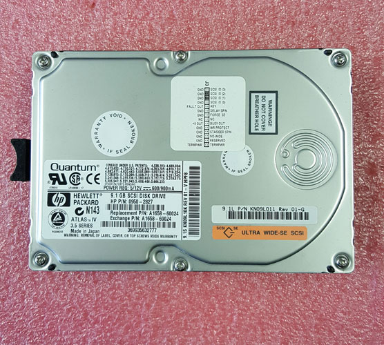 0950-2827 Genuine HP 9GB Ultra Wide Single Ended Disk Drive