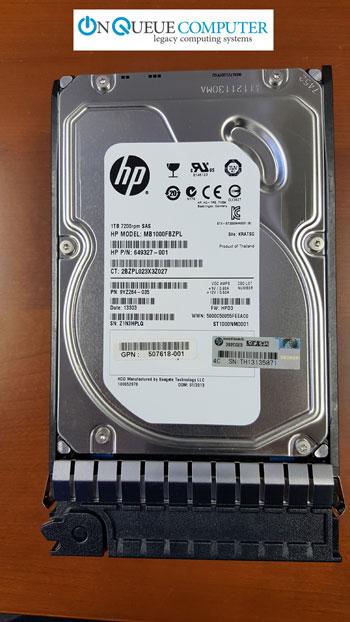 507618-001 HP 1TB 6G DP 7200 RPM LFF Midline SAS HDD