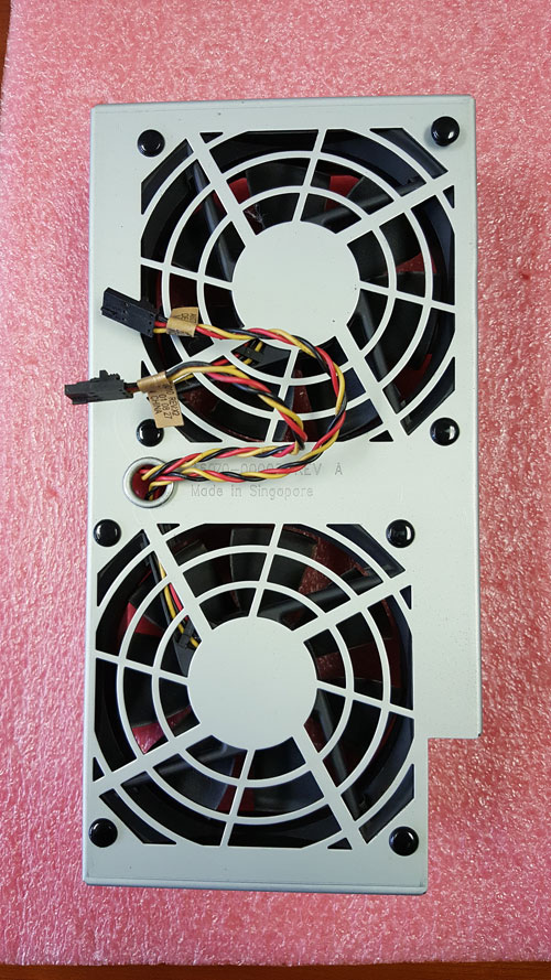 A6070-62033 Large fan and bracket assembly - Includes two 92mm (3.62in) fans mounted on a bracket assembly - Mounts to the right front of the chassis assembly (in front of the system processor board)